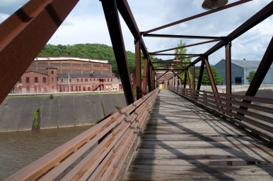 bethlehem steel company foot bridge
